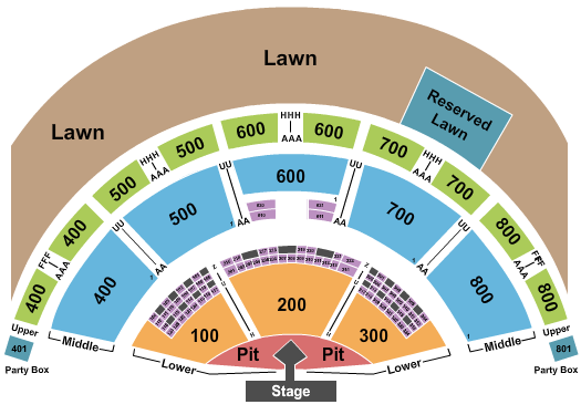Xfinity Theatre Floor Plan