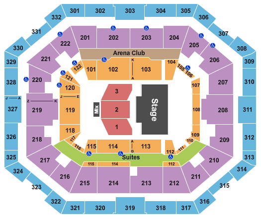 The Yuengling Center Seating Chart Plan