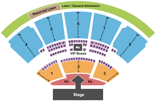 iTHINK Financial Amphitheatre Floor Plan