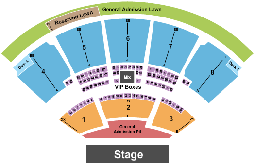iTHINK Financial Amphitheatre seating chart event tickets center
